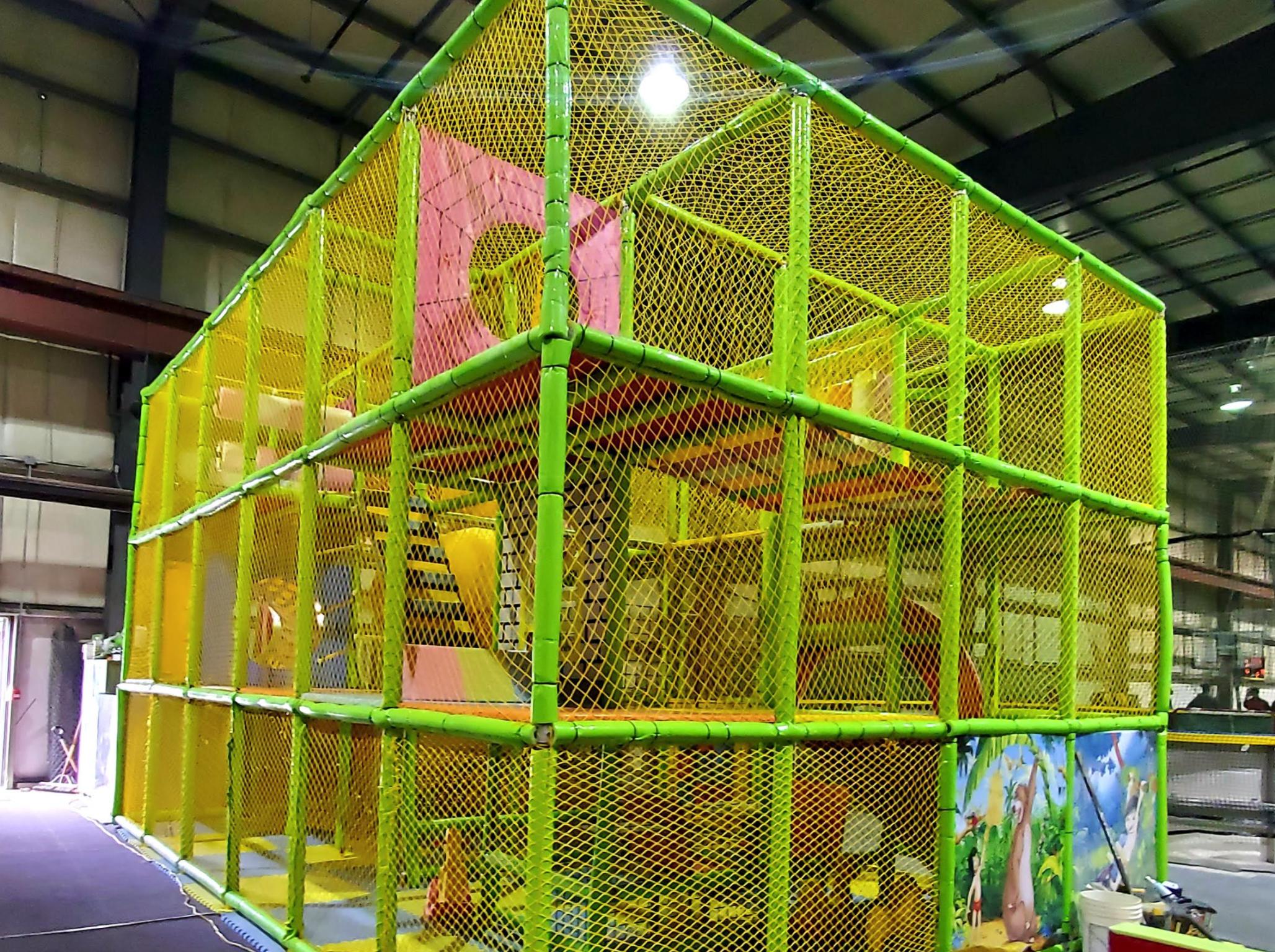 a jungle gym